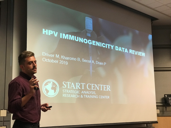 START RESEARCH ASSISTANT PRESENTS AT HPV CONSORTIUM